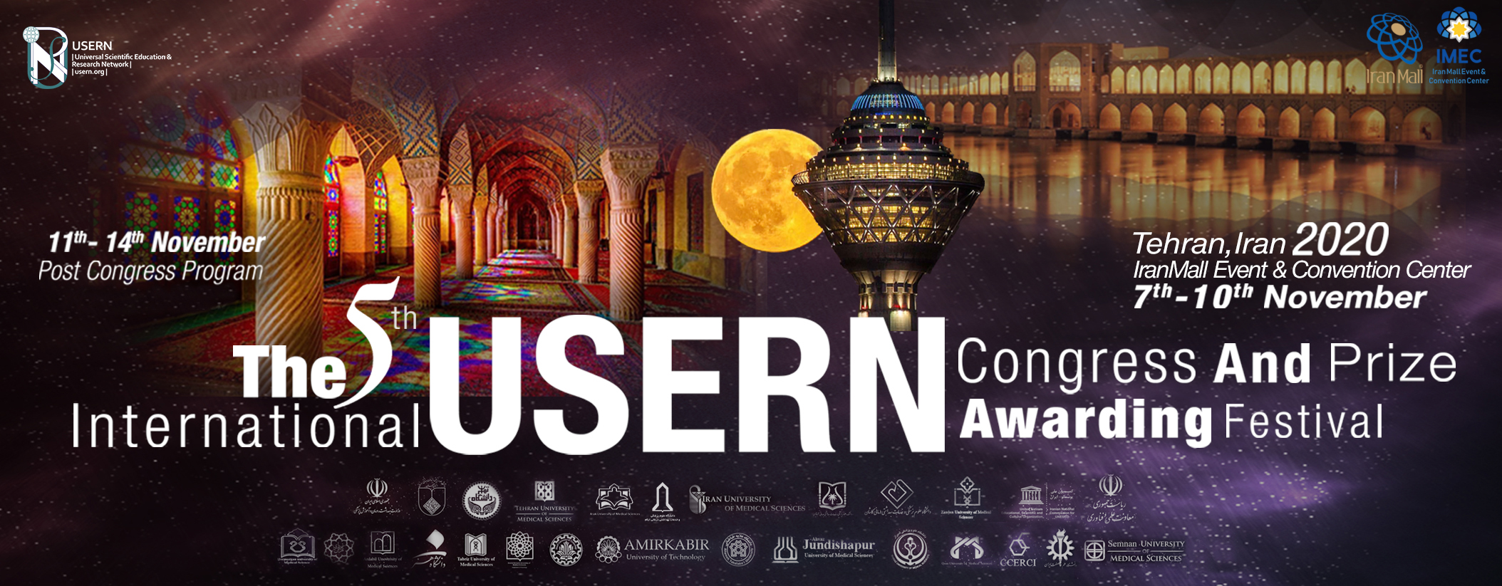USERN 2020: The Largest Scientific Gathering of World's Top Scientists at Iran Mall Exhibition Center